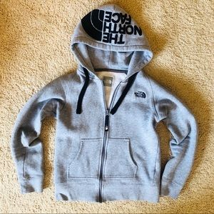 North Face Women's Gray ZIP Up Size Small